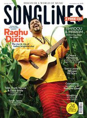Raghu Dixit on Songlines Front Cover