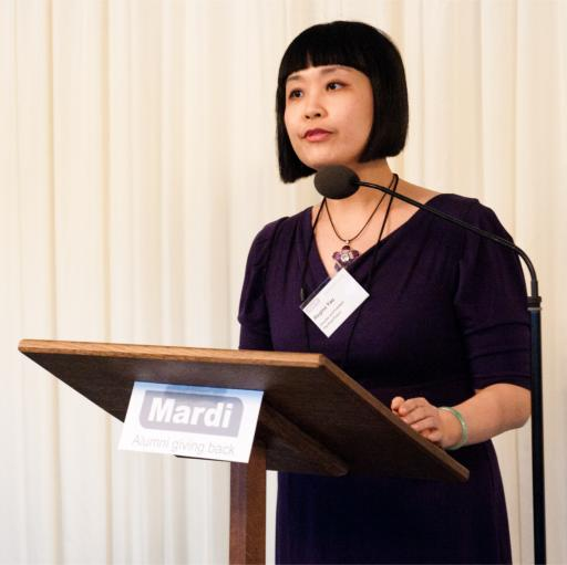 Regina Yau speaking at the Mardi Launch